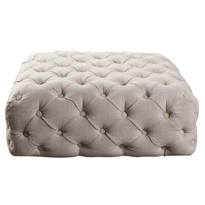 Hughley Square Ottoman Upholstery: Beige