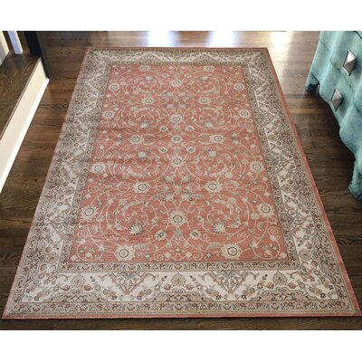 Garda Red Area Rug Rug Size: Runner 22 x 77