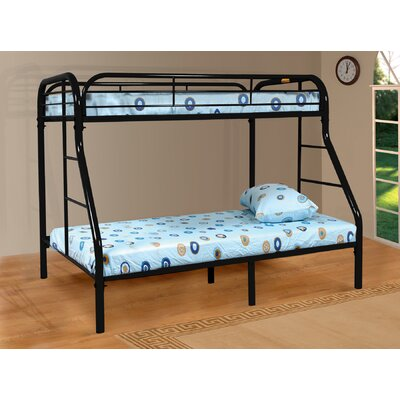 Twin over Full Bunk Bed Color: Black