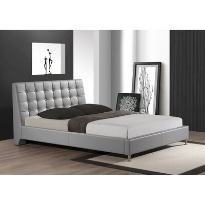 Belle Upholstered Platform Bed Size: King, Color: Gray
