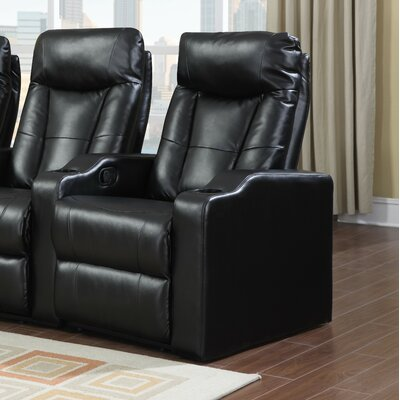 Eugenia Home Theater Right Facing Recliner Upholstery: Black