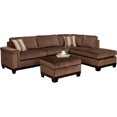 Opulence Reversible Sectional Upholstery: Brown