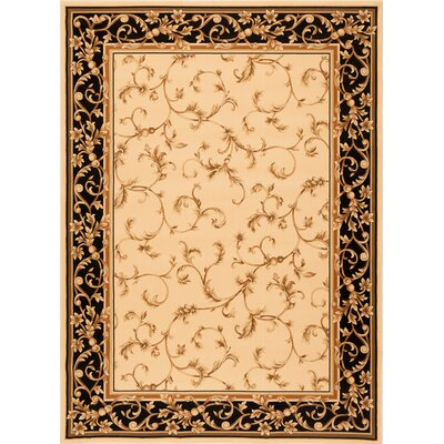 Deondra Wheat/Black Area Rug Rug Size: Rectangle 33 x 53