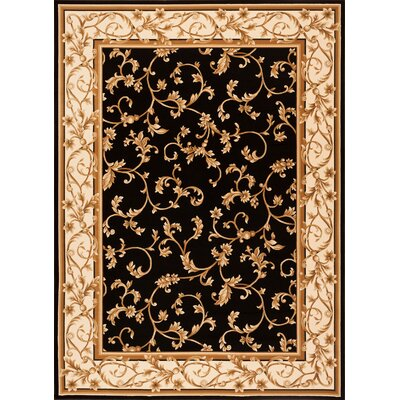 Calley  Black Area Rug Rug Size: Rectangle 53 x 77