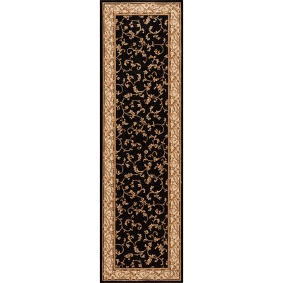 Calley  Black Area Rug Rug Size: Runner 23 x 77