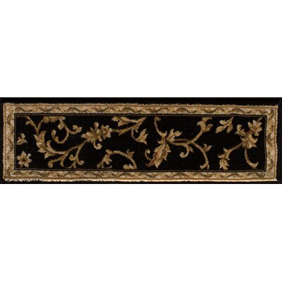 Caela Black/Wheat Area Rug Rug Size: 26x8