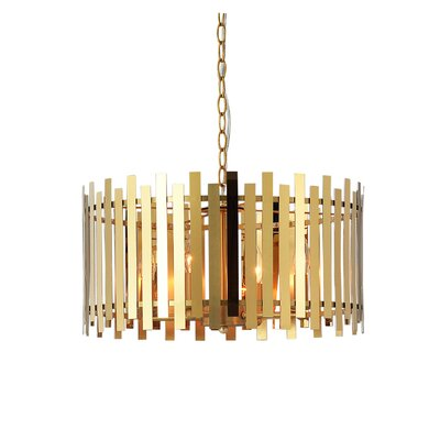 Kamena 4-Light Drum Pendant