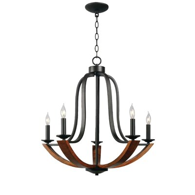 LaTeisha 5-Light Candle-Style Chandelier