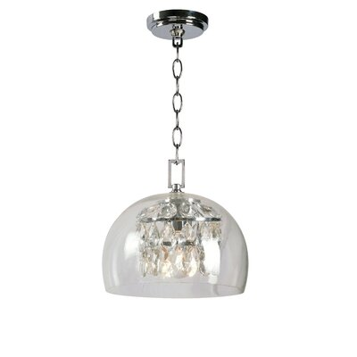 Worthing 1-Light Chrome Inverted Pendant