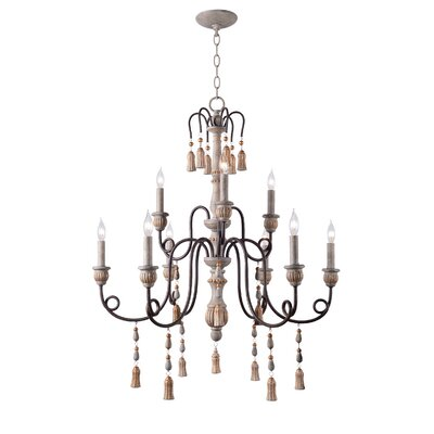 Hassan 9-Light Candle-Style Chandelier