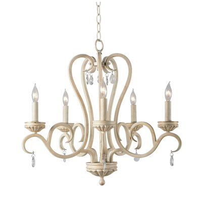 Khaled 5-Light Candle-Style Chandelier