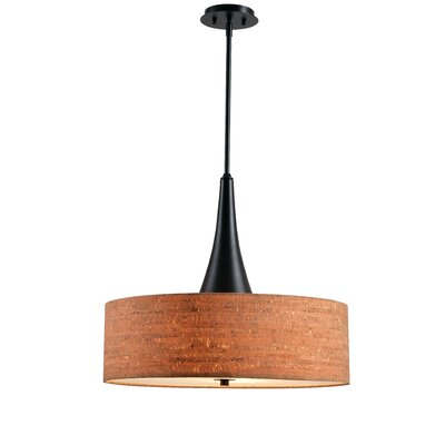Faust Cork 3-Light Drum Pendant