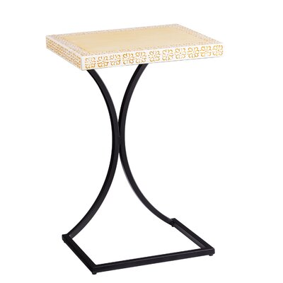 Sharen Outdoor End Table Color: Yellow