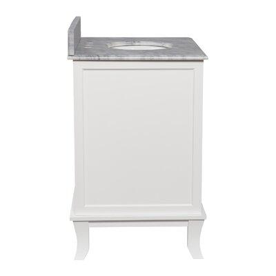 Doris Single Bathroom Vanity Set with Marble Counter Top