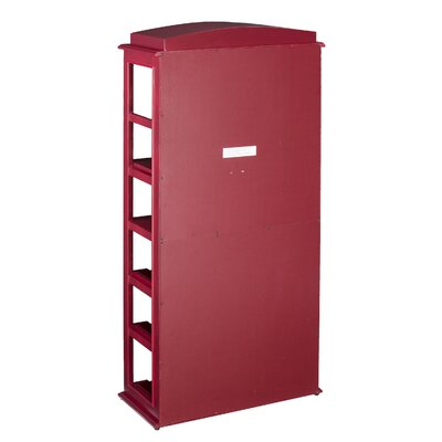 Belair Phone Booth 15 Bottle Floor Wine Bottle Rack with Wine Storage