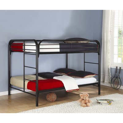 Sacramento Full over Full Bunk Bed Color: Black