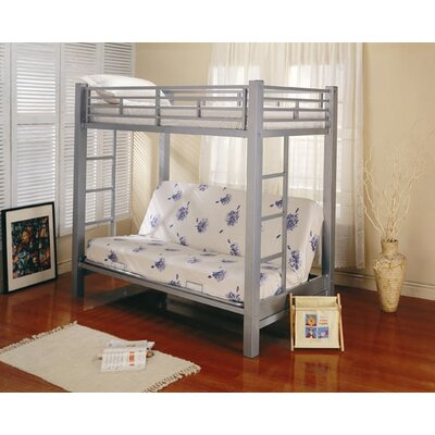 Eddyville Twin over Full Bunk Bed with Built-In Ladder
