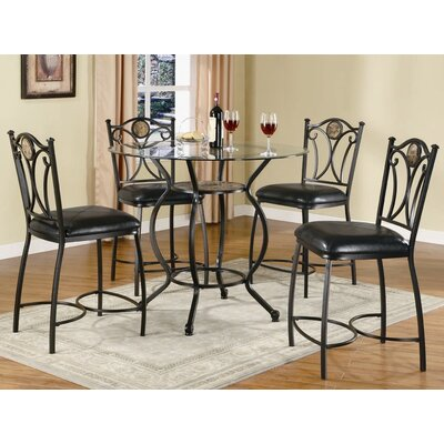 Cheap Wildon Home Starks Counter Height 5 Piece Dining Table Set in Black (CST8785)