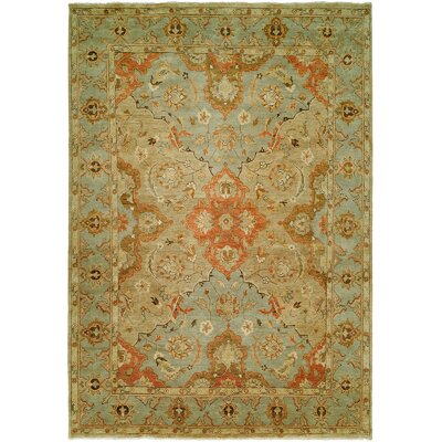Sai Hand-Knotted Brown/Blue Area Rug Rug Size: Rectangle 5 x 7