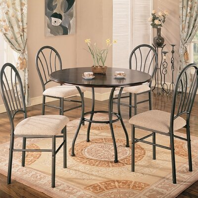 Cheap Wildon Home Montville 5 Piece Dining Table Set in Dark Brown (CST8043)