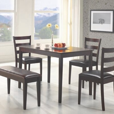 Cheap Wildon Home Guilford 5 Piece Counter Heght Dining Table Set in Rich Dark Cappuccino (CST8061)