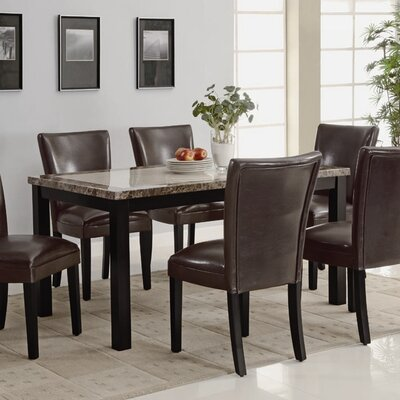 Wildon Home Crawford Dining Table (7 Pieces) - Upholstery: Cream
