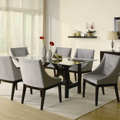 Wildon home belmont dining table in cappuccino cst8658 for Wildon home dining
