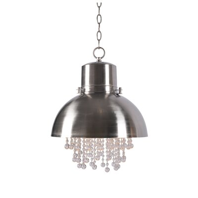 Monadnock 1 Light Inverted Pendant Finish: Brushed steel
