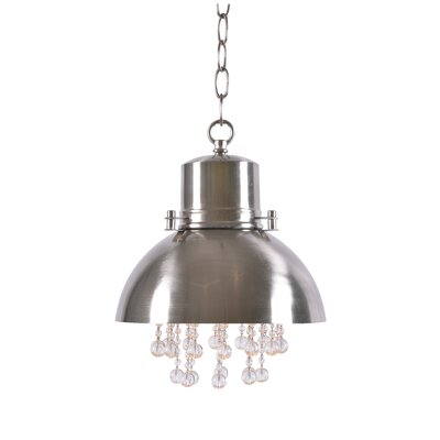 Monadnock 1-Light Inverted Pendant Finish: Brushed Steel