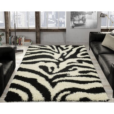 Candela Black/White Area Rug Rug Size: Rectangle 53 x 7