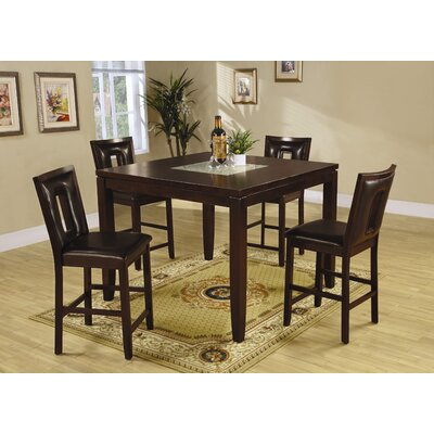 Cheap Wildon Home Grandfalls 5 Piece Counter Height Dining Set in Espresso (CST9658)