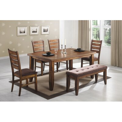Wildon Home Corrigan 6 Piece Dining Table Set In Antique Oak CST9698
