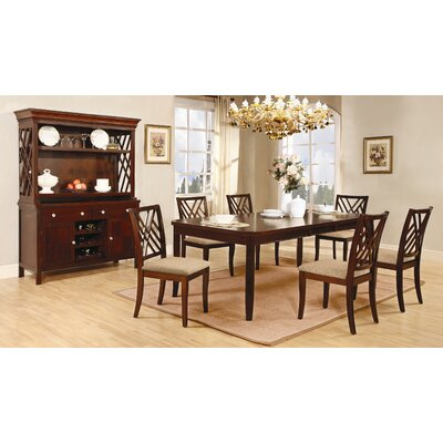 Wildon home blooming grove dining table in dark mahogany for Wildon home dining