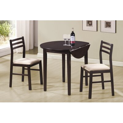 Wildon Home Lexington 3-Piece Dining Set in Cappuccino (CST9185)