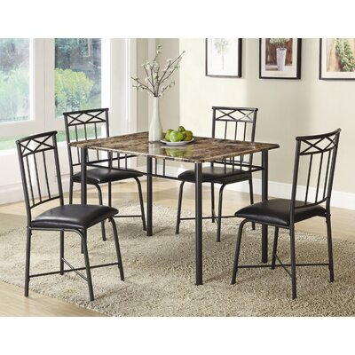 Cheap Wildon Home Little Elm 5-Piece Dining Set in Black (CST9203)