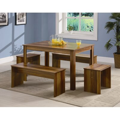 Cheap Wildon Home Livingston 5-Piece Dining Set in Brown (CST9206)