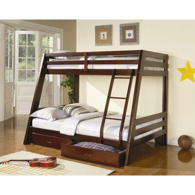 Mullin Twin over Full Bunk Bed with Storage