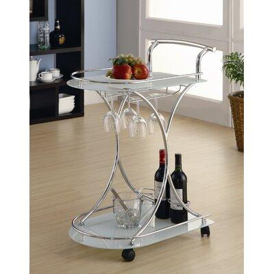 Furniture dining room furniture serving cart chrome serving cart - Dining room serving carts ...