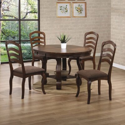 Wildon home pittsfield round dining table in medium brown for Wildon home dining