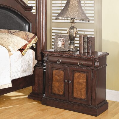 Easy financing Merkel 1 Drawer Nightstand...