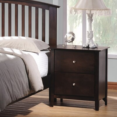 Crimmins 2 Drawer Nightstand