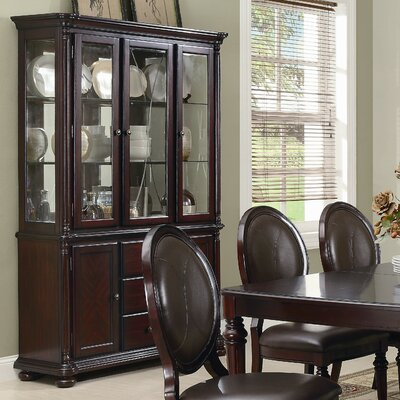 dining room furniture china cabinet brown cherry china cab