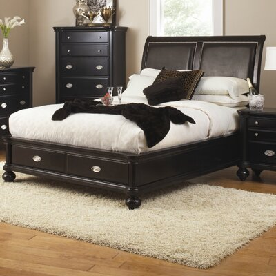 Lease to own Woodville Storage Panel Bed Size: C...