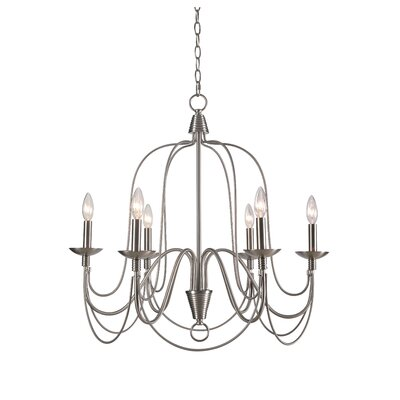Kollman 6-Light Candle-Style Chandelier Finish: Brushed Steel