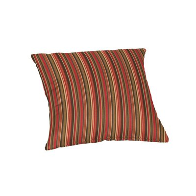 Outdoor Sunbrella Throw Pillow Color: Dorsett Cherry