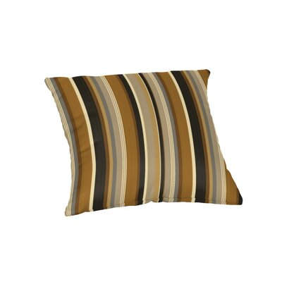 Outdoor Sunbrella Throw Pillow Color: Espresso Stripe