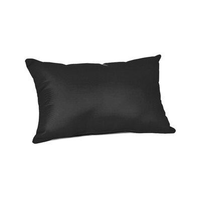 Outdoor Sunbrella Lumbar Pillow Color: Canvas Black, Size: 9 x 12