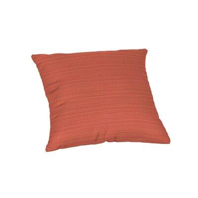 Outdoor Sunbrella Throw Pillow Color: Dupione Papaya
