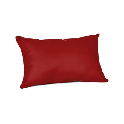 Outdoor Sunbrella Lumbar Pillow Color: Canvas Jockey Red