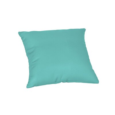 Outdoor Sunbrella Throw Pillow Color: Canvas Aruba